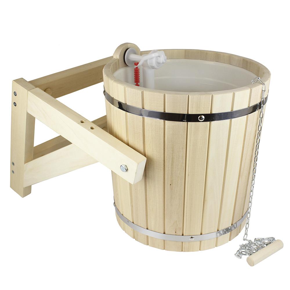 Ведро-водопад для обливания в бане: принцип действия, изготовление и установка своими руками