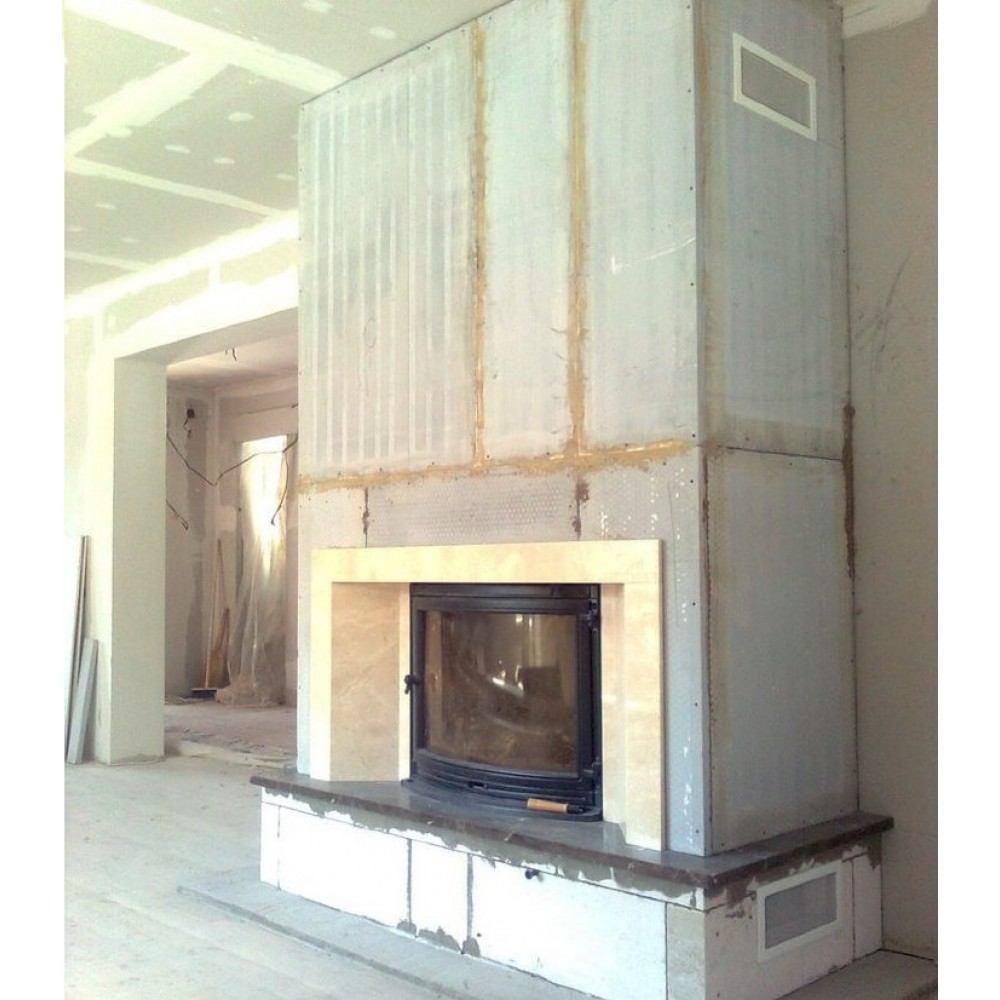 Термостойкий гипсокартон для камина - только ремонт своими руками в квартире: фото, видео, инструкции