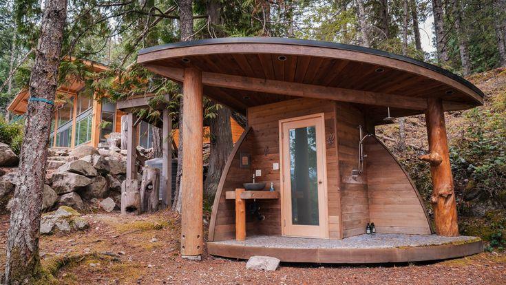 Проект небольшой бани: с комнатой отдыха, беседкой барбекю