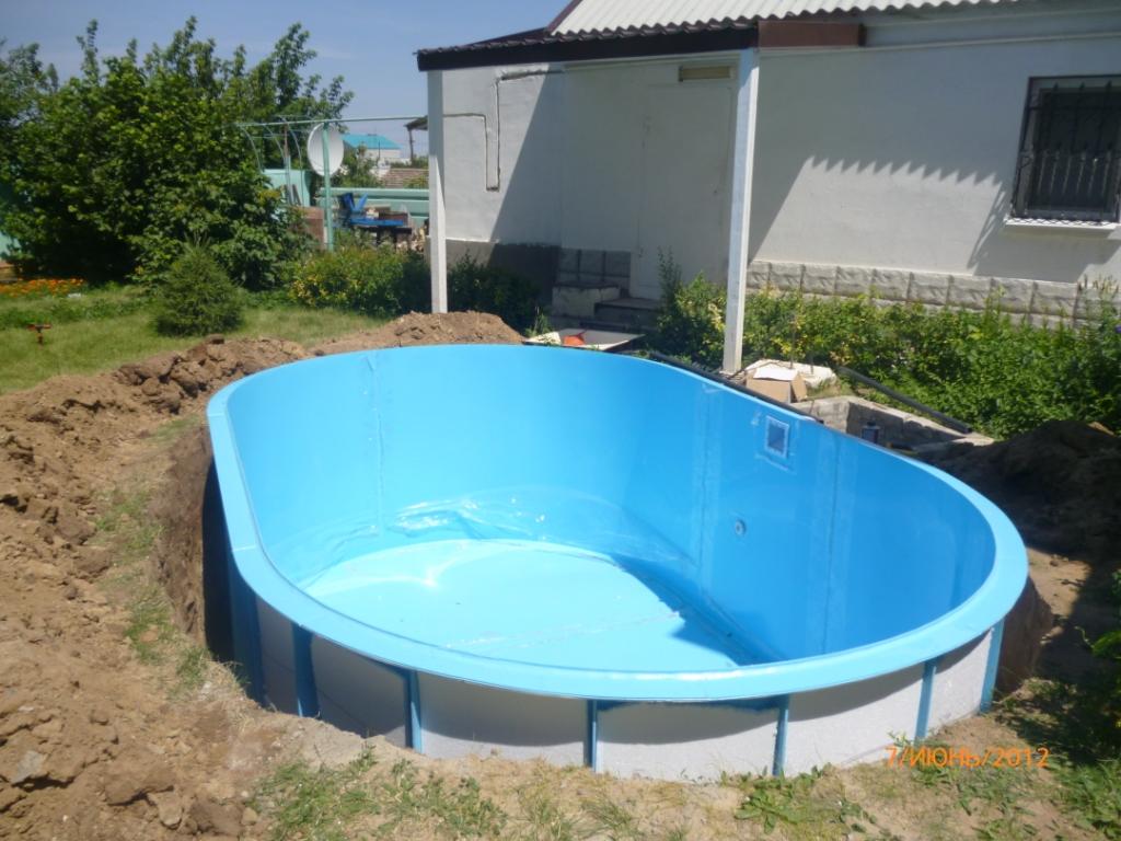 Бассейны для дачи вкапываемые: как правильно вкопать морозостойкий пластик