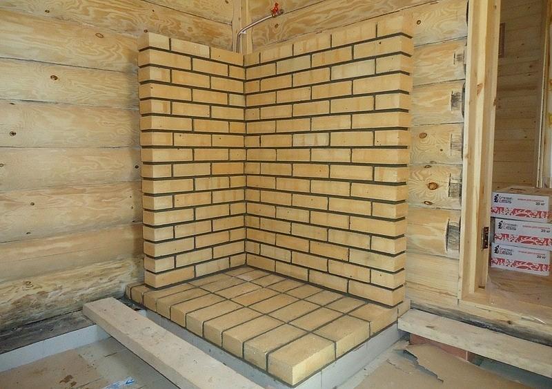 Чем обшить стену возле печки в бане