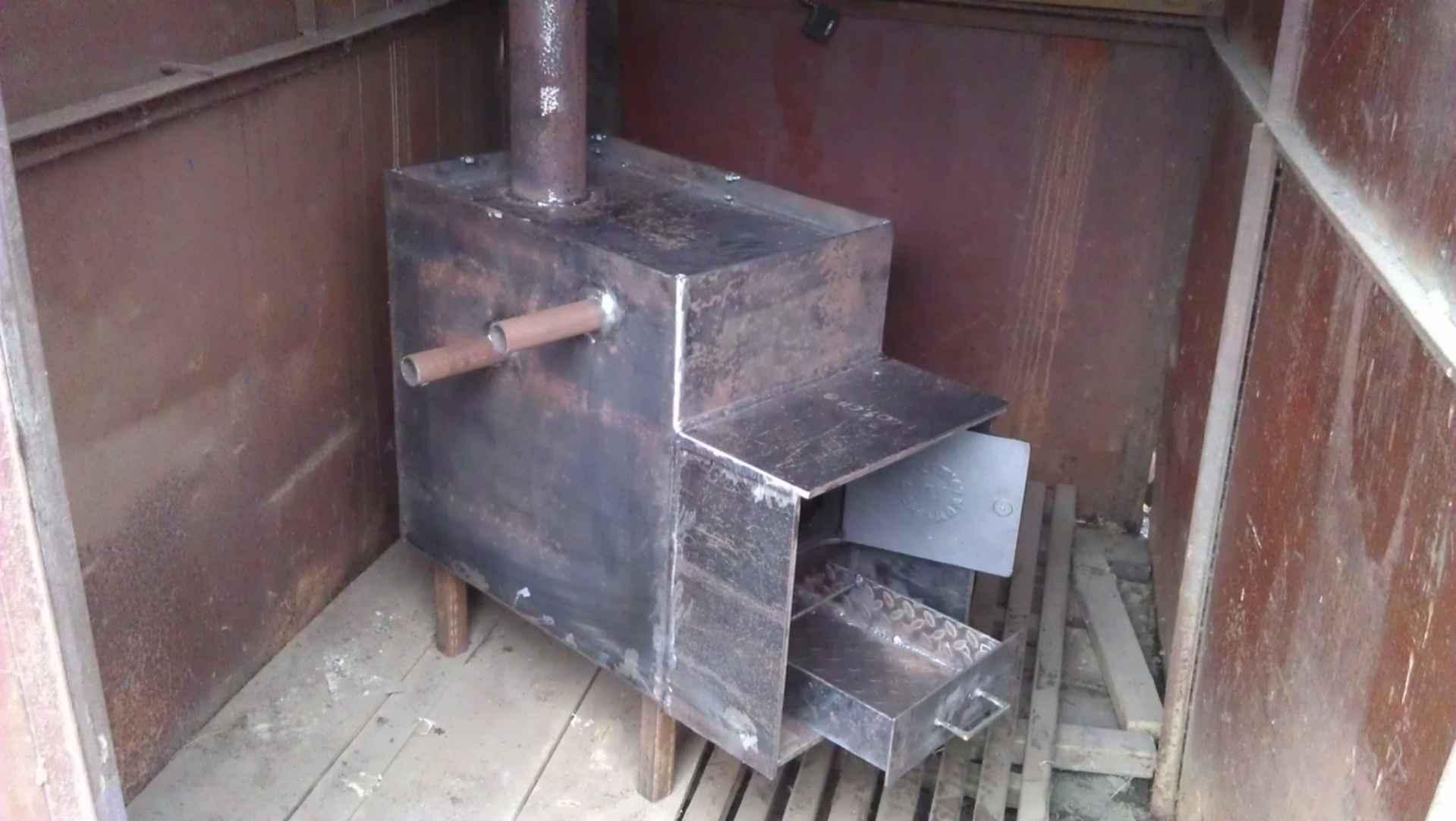 Металлическая печь своими руками: печь для дома из металла, самодельные печки из железа