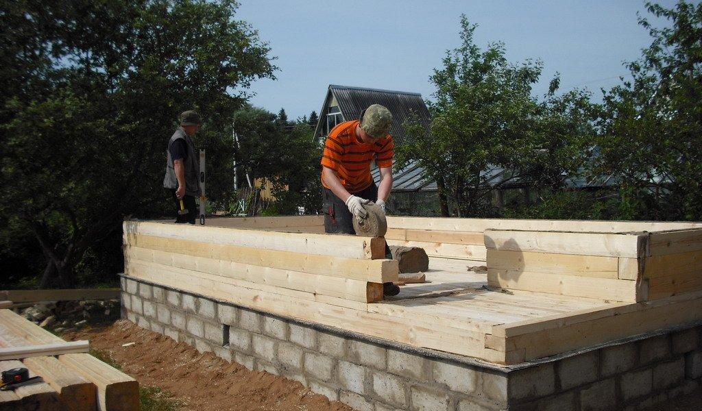 Баня, возведенная из бруса: как построить своими руками. поэтапная инструкция