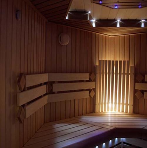 Освещение в бане: светодиоды, оптоволокно, беспроводные светильники