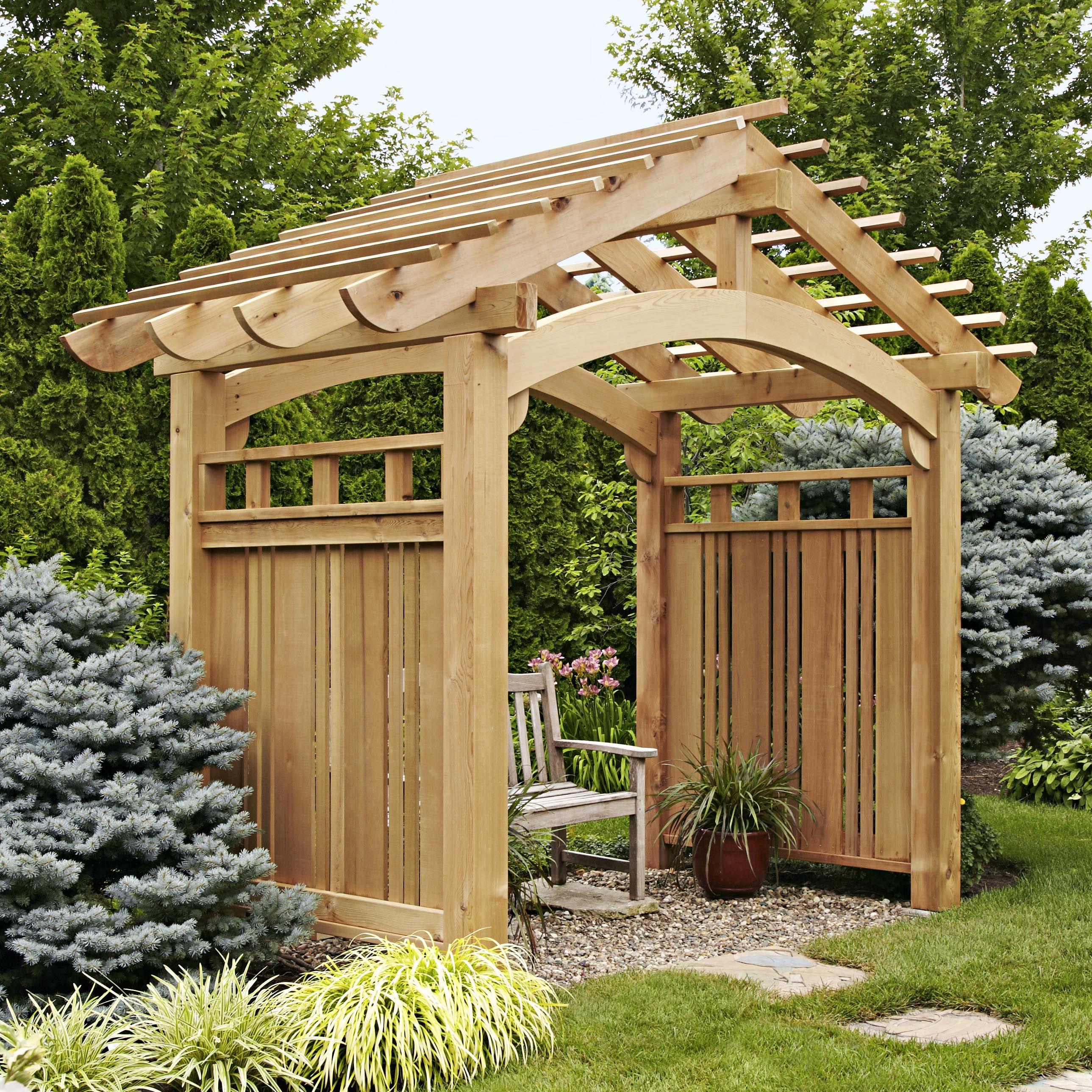 Красивые деревянные перголы и арки для дачного участка. Оригинальные варианты дизайна
