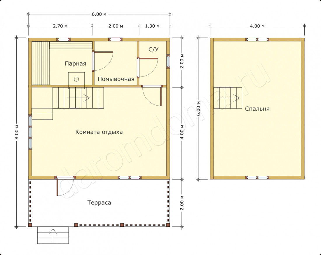 Проект бани площадью 6х6 (67 фото): планировка дома-бани с террасой, туалетом и кухней, план двухэтажной постройки из сруба