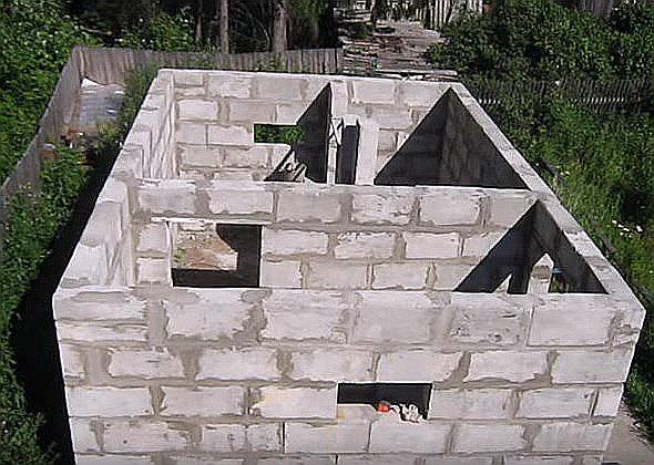 Строим баню из пеноблоков своими руками