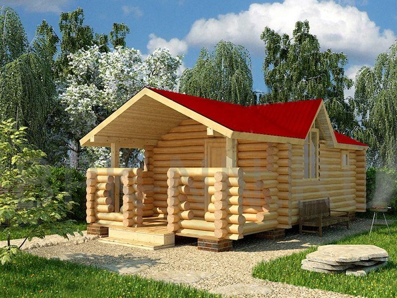 Бани из бревна: проекты деревянных бань из сруба, фото, цены на строительство в москве