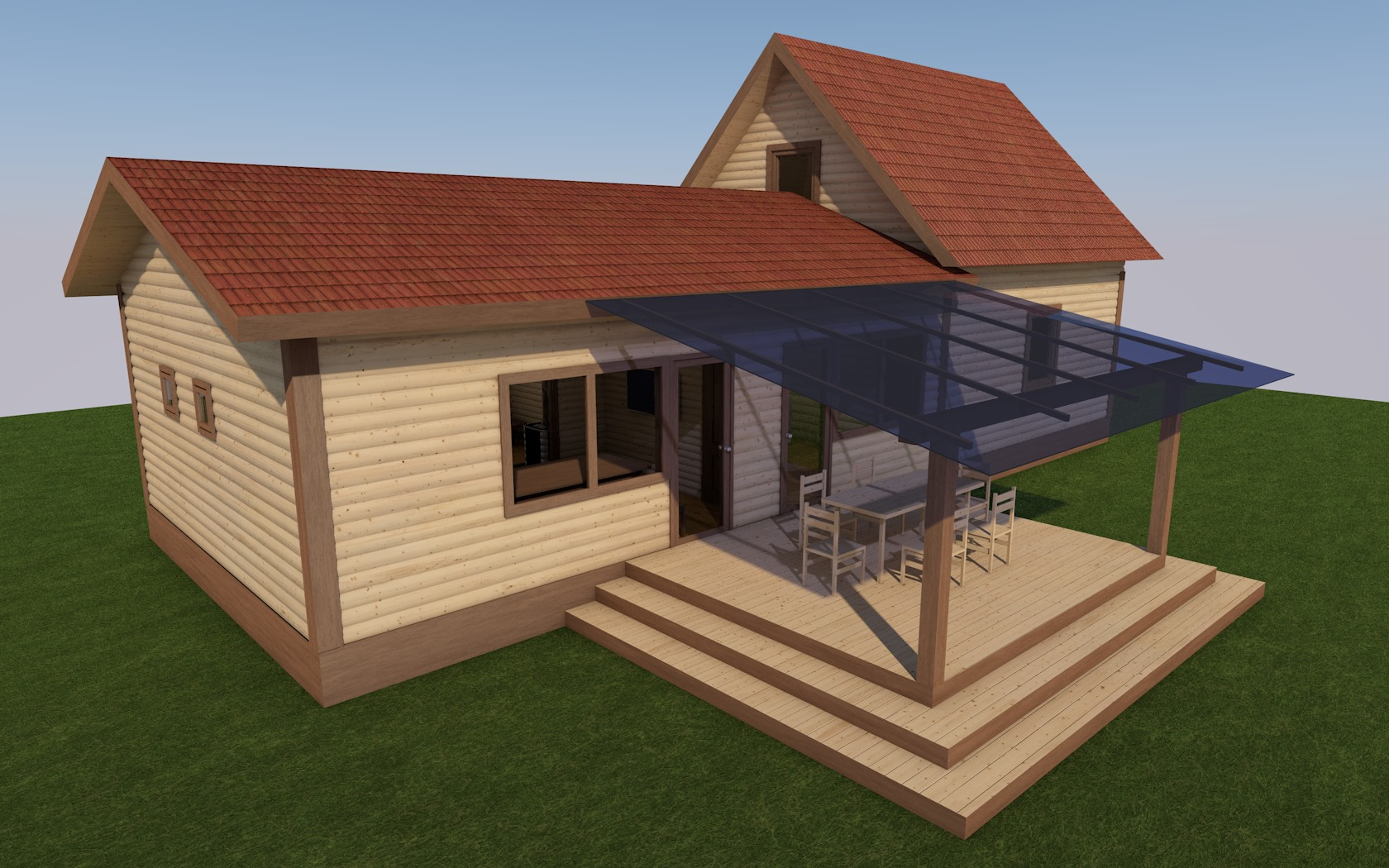 Дом с баней под одной крышей - проекты и строительство!