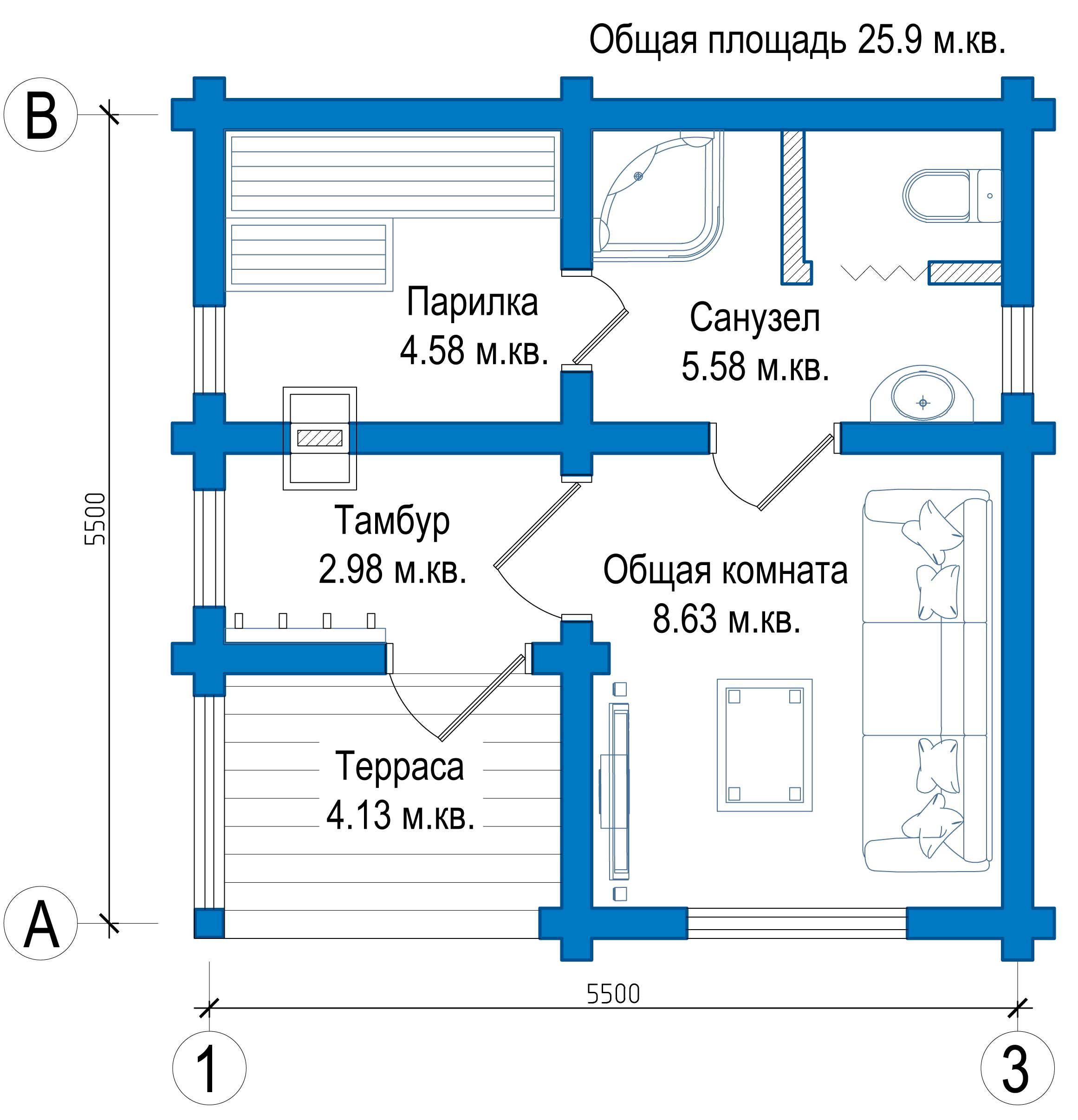 Баня 5 х 5: проект и особенности создания постройки из разных материалов