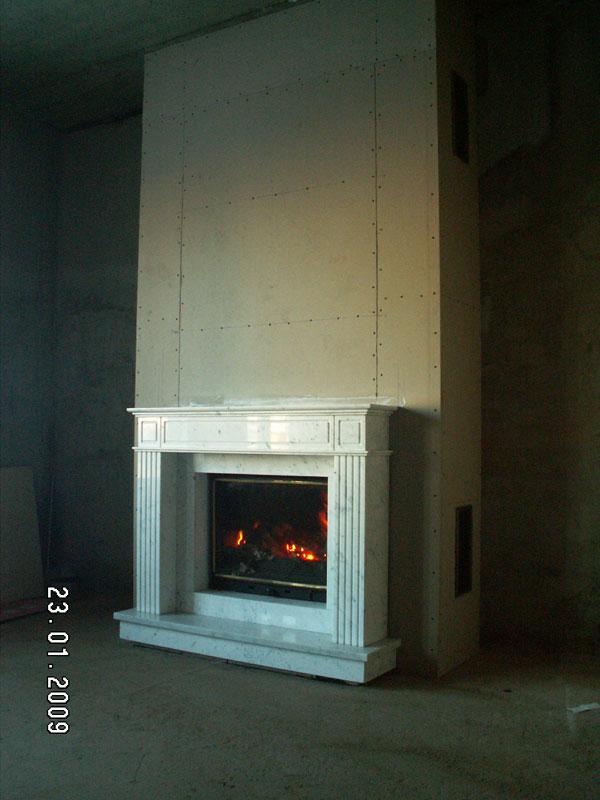 Термостойкий гипсокартон для камина — только ремонт своими руками в квартире: фото, видео, инструкции