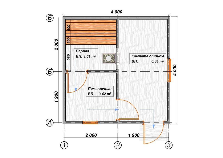 Баня 4 на 4 планировка внутри - подробная информация!