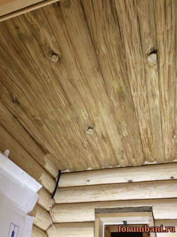Устройство потолка в бане из сруба: пароизоляция в деревянном перекрытии, как сделать
