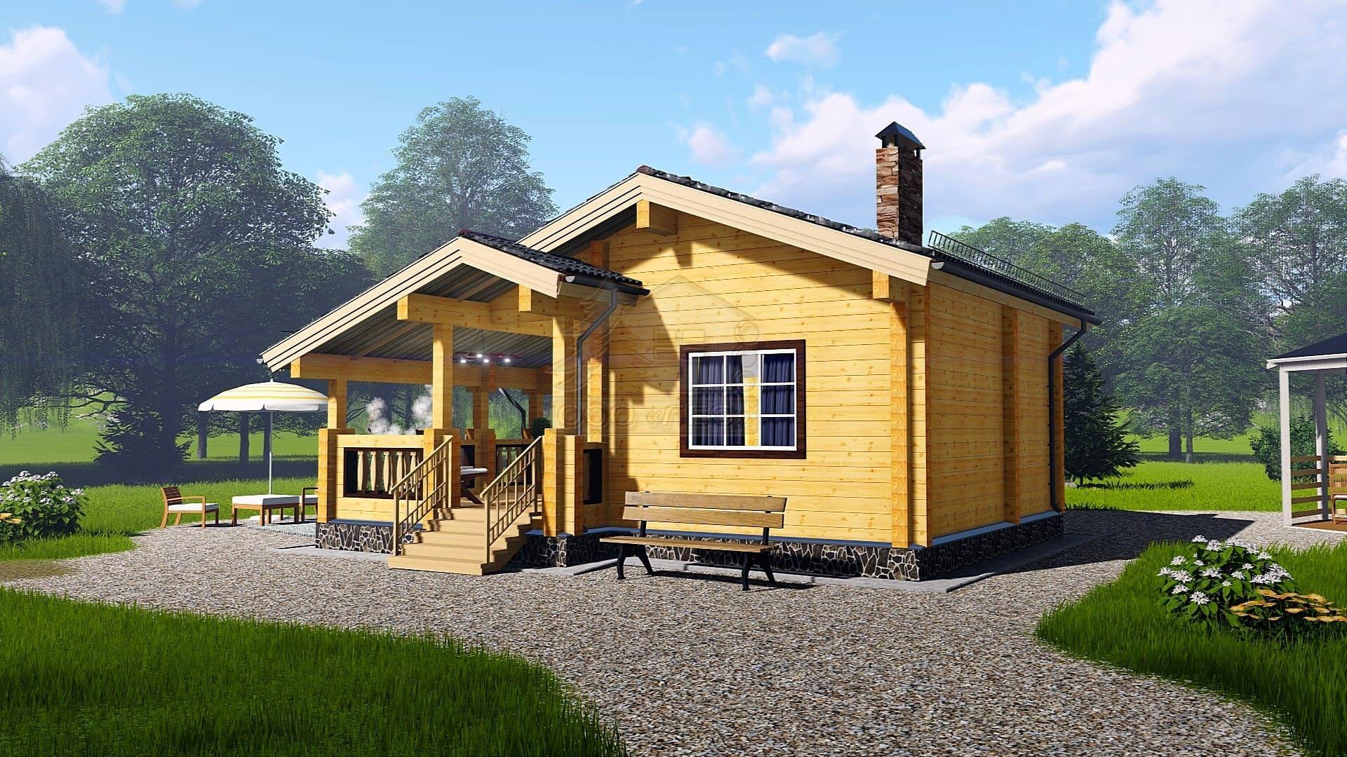 Всё о домах из бруса с мансардой: от выбора материалов до строительства и планировки