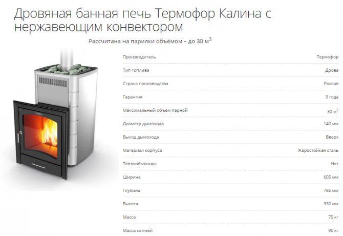 Печь для бани: основные требования, выбор мощности, используемые материалы