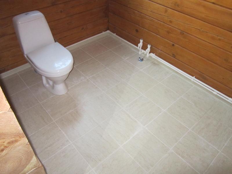 Пол в бане из плитки: как сделать и фото керамического пола
