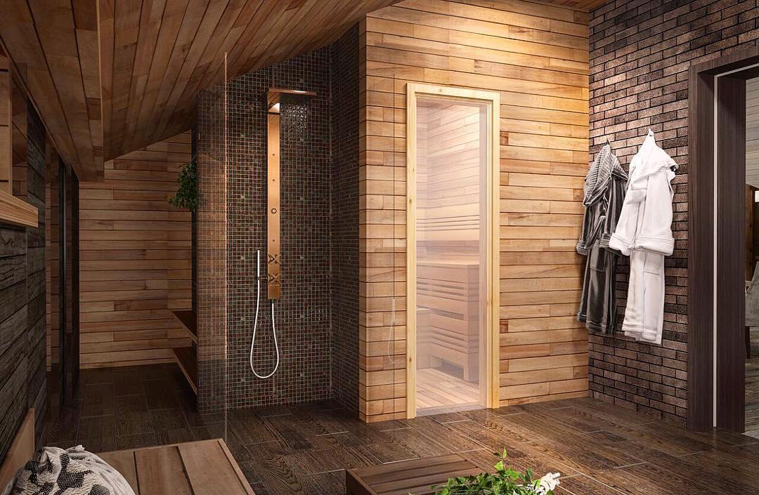 Отделка моечной в бане: есть ли альтернатива плитке