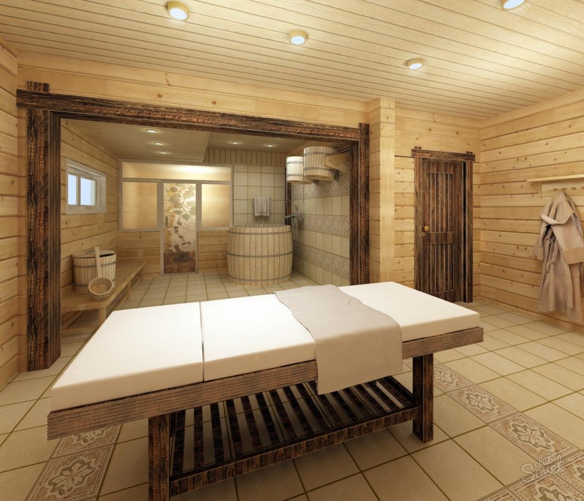 Комната отдыха в бане: планировка и обустройство