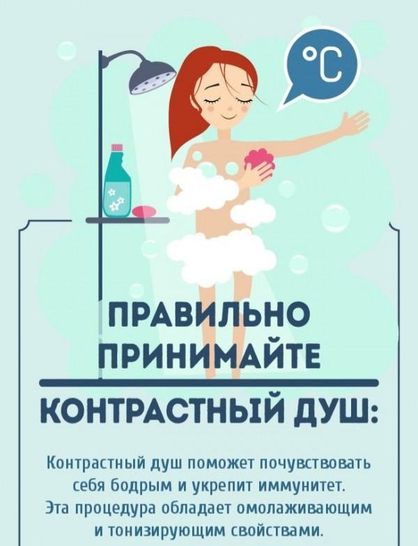 Контрастный душ: как принимать, польза и вред