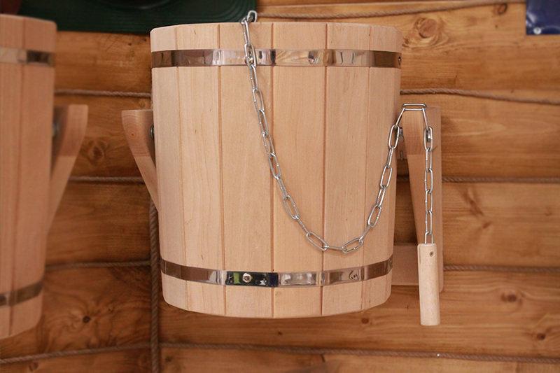 Об обливном ведре для бани: большое ведро для обливания своими руками