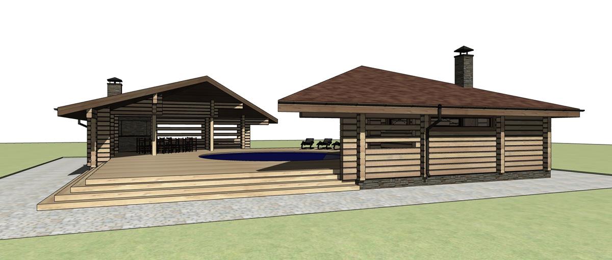 Проект бани с бассейном (68 фото): деревянные строения с бассейном под одной крышей, как построить своими руками, варианты с барбекю и бильярдом