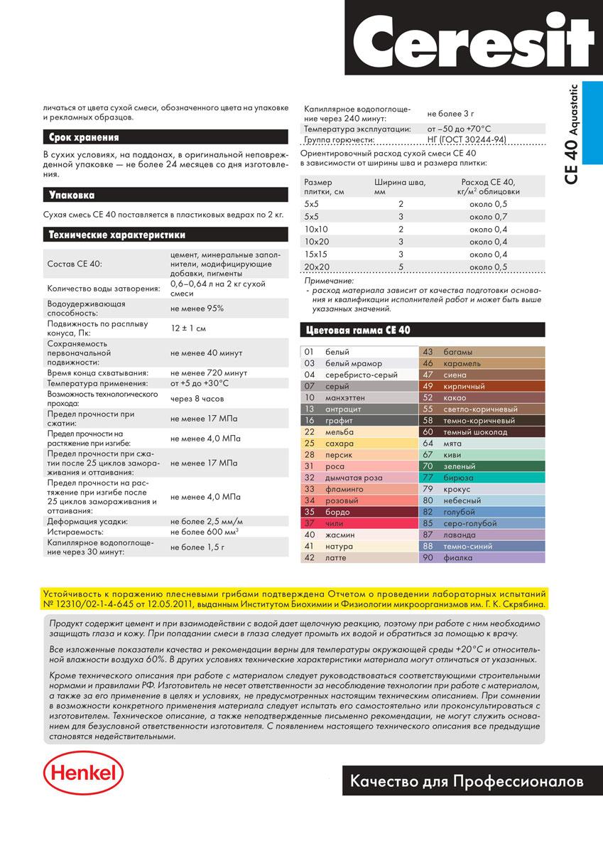 Плиточный клей церезит: характеристики, расход на 1м2, сколько сохнет, цена