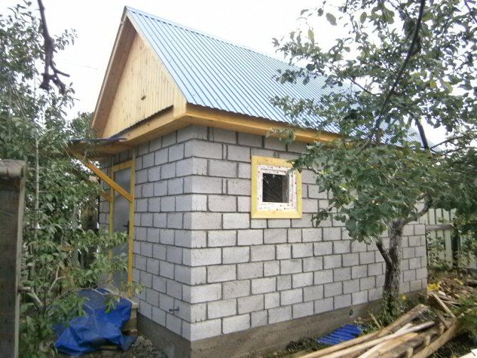Баня из шлакоблоков своими руками - строим баню или сауну