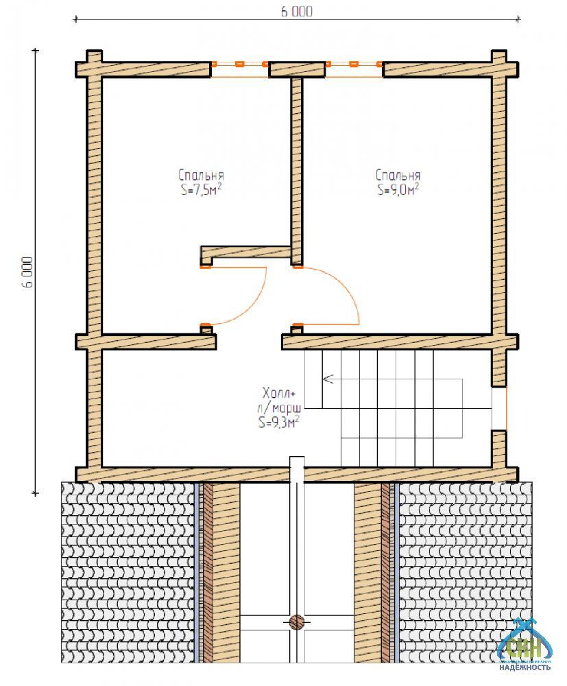 Баня 5х5, цена от 163 000 ₽: купить сруб из бревна 5 на 5 – баня мск, спб