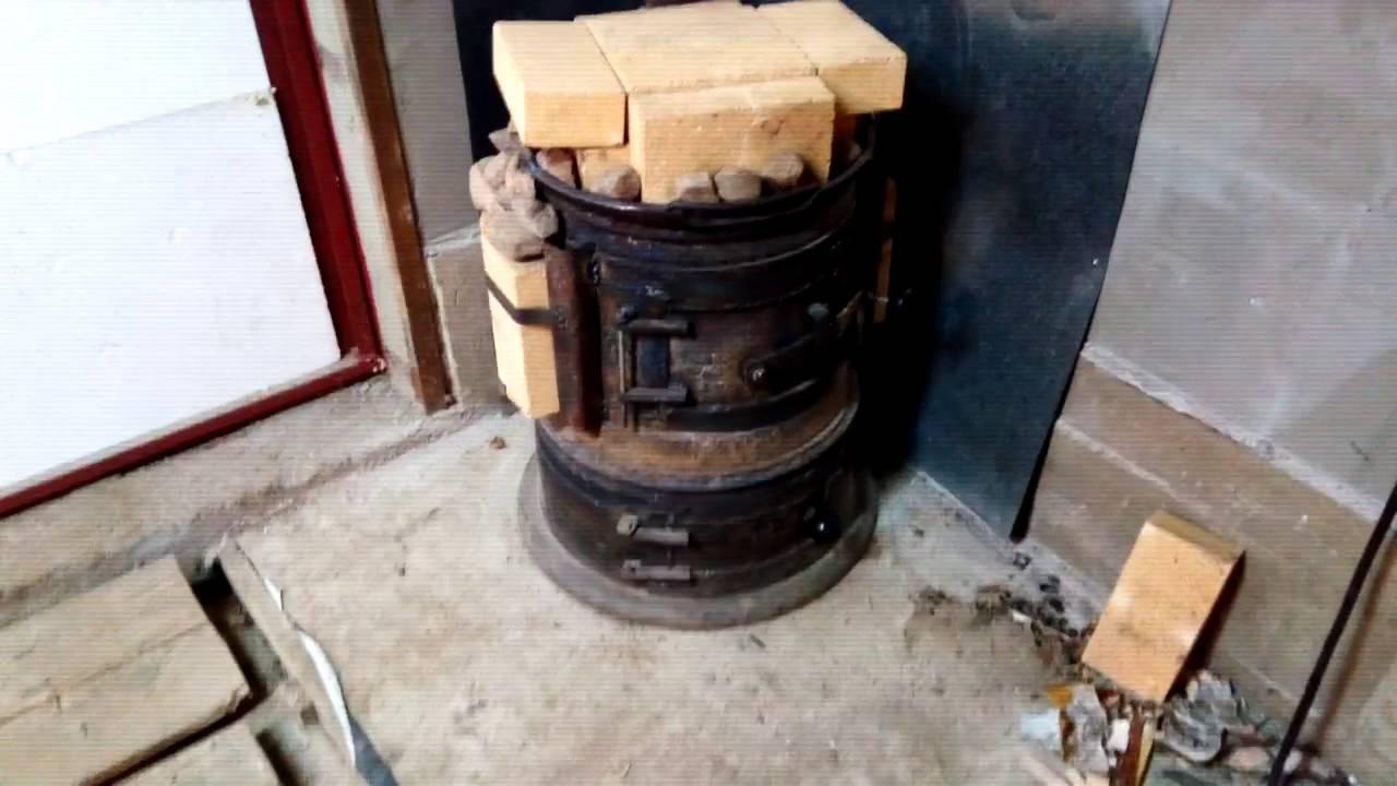 Печка в гараж своими руками из дисков грузового автомобиля: буржуйка из колес
