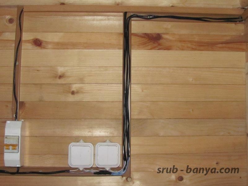 Как организовать проводку в бане