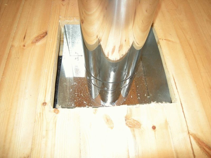 Как сделать трубу в бане через потолок - всё о бане