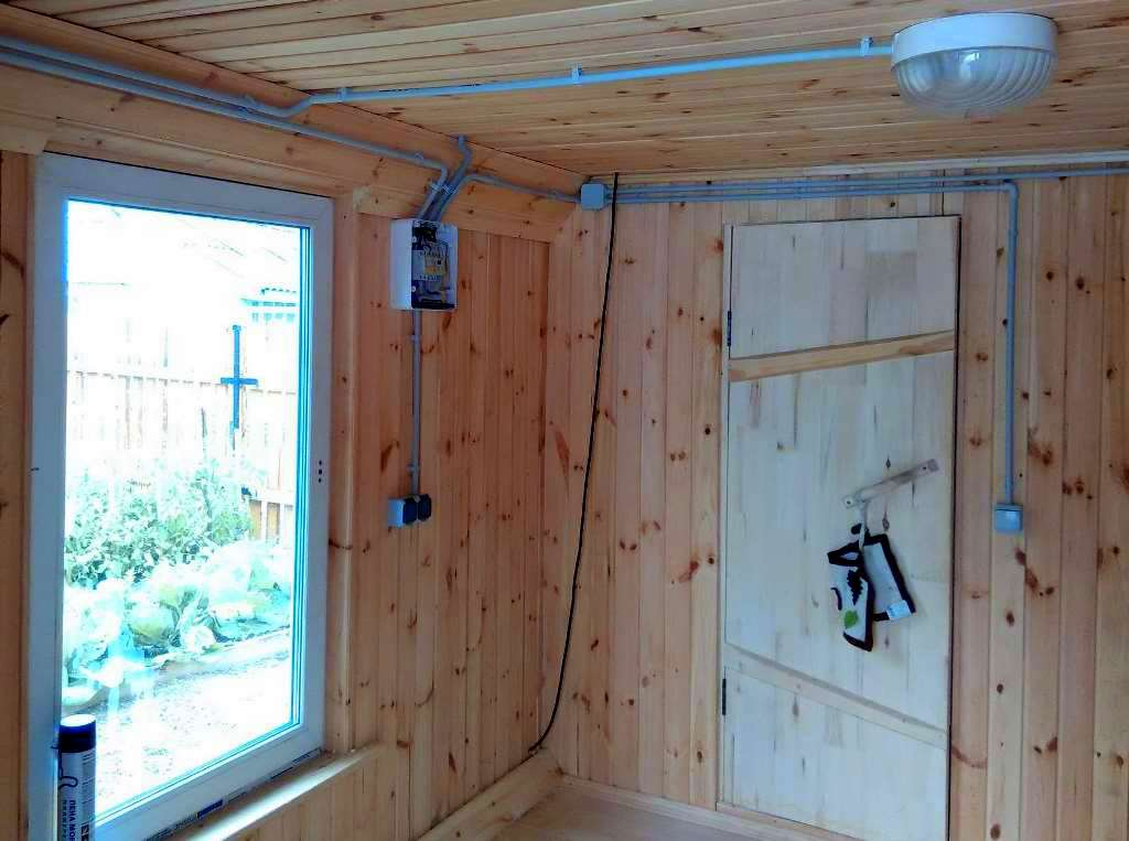 Как выполняется схема электропроводки в бане
