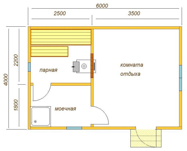 Проект бани 4 на 5: преимущества, особенности составления и примеры | построить баню ру