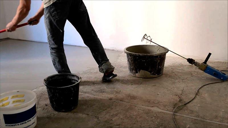 Как сделать бетонный пол своими руками