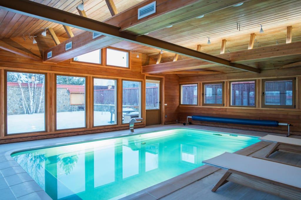 Строим баню из бруса с бассейном внутри с нашими советами!