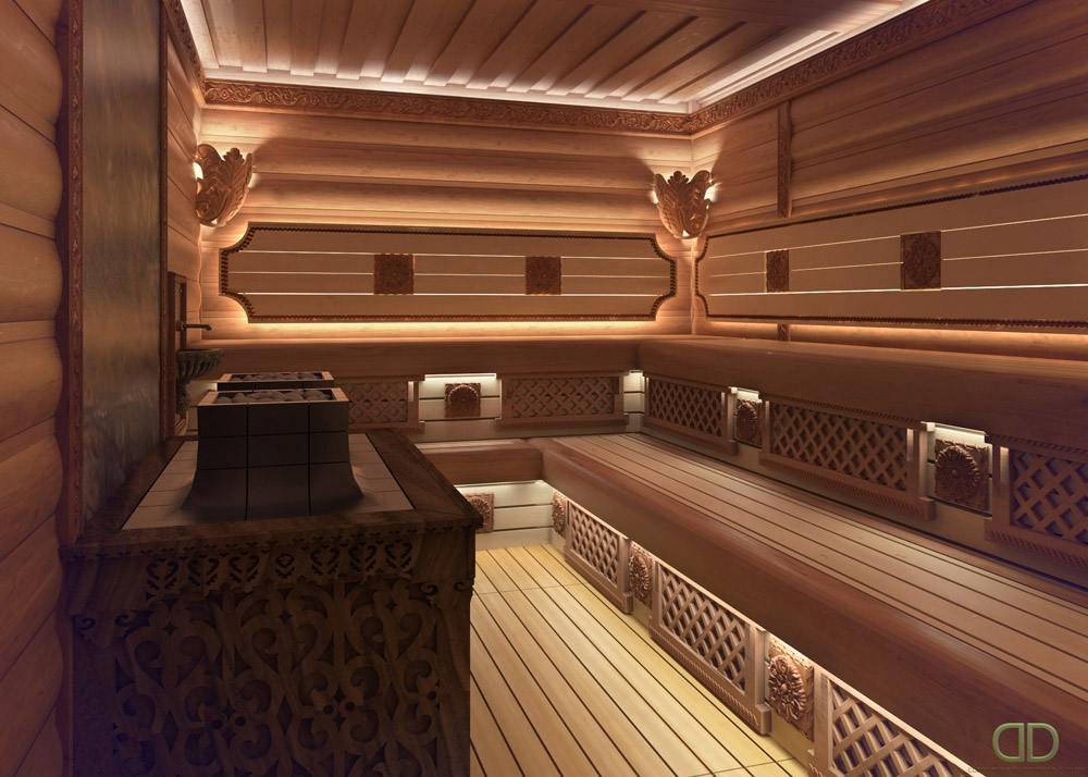 Отделка бани внутри: обустройство парилки, душевой, комнаты отдыха