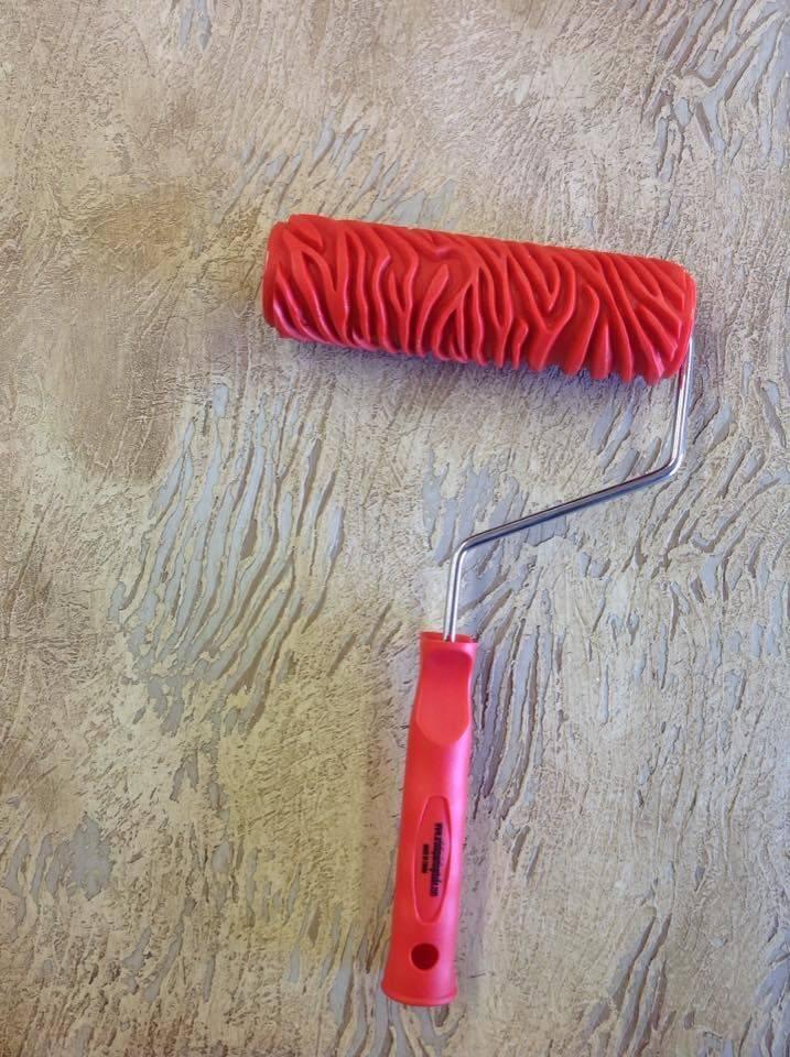 Валики для декоративной штукатурки, виды валиков: фактурный, структурный