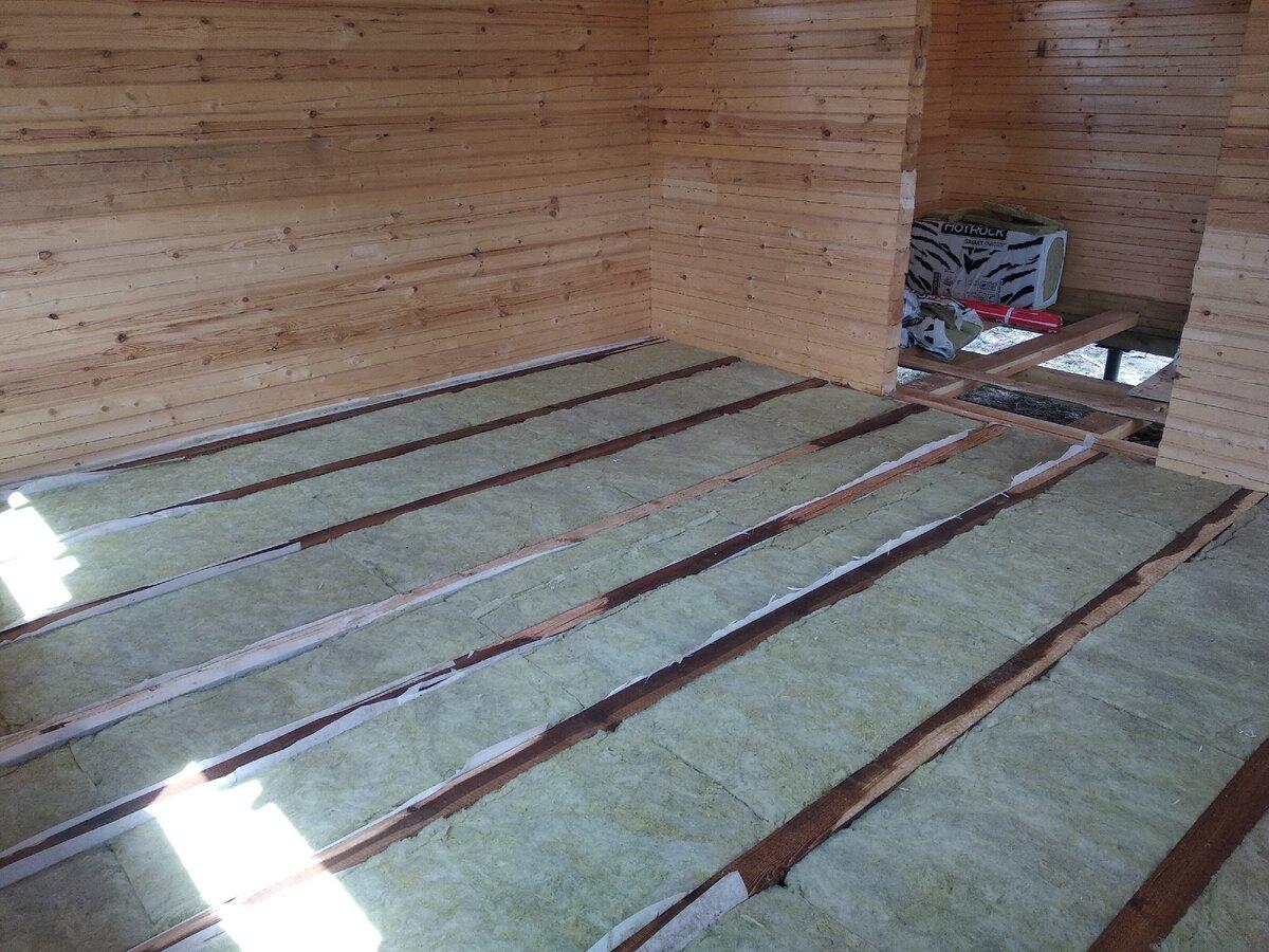 Способы утепления бетонного пола в бане