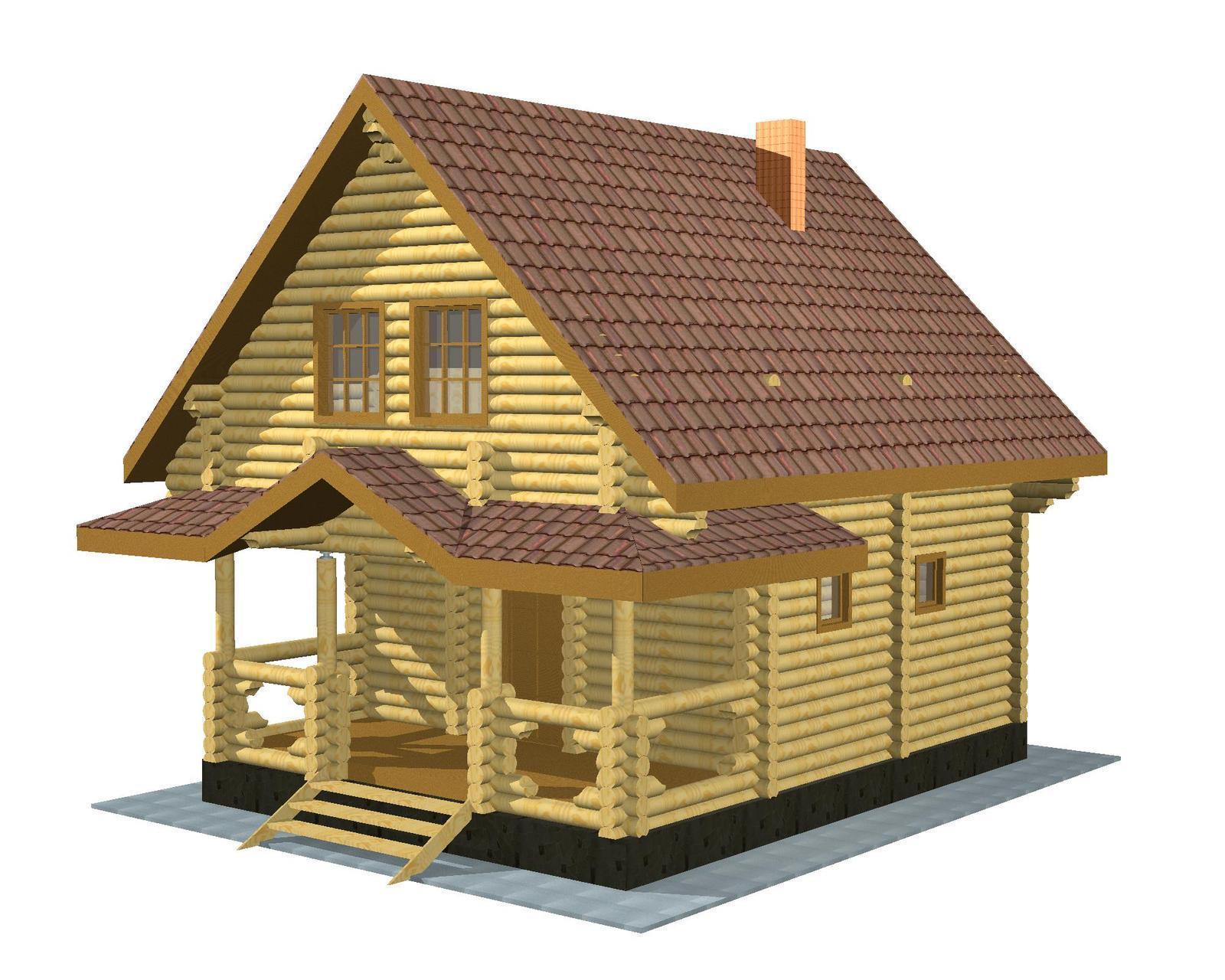 Баня с мансардой: обзор материалов для строительства и несколько примеров проектов