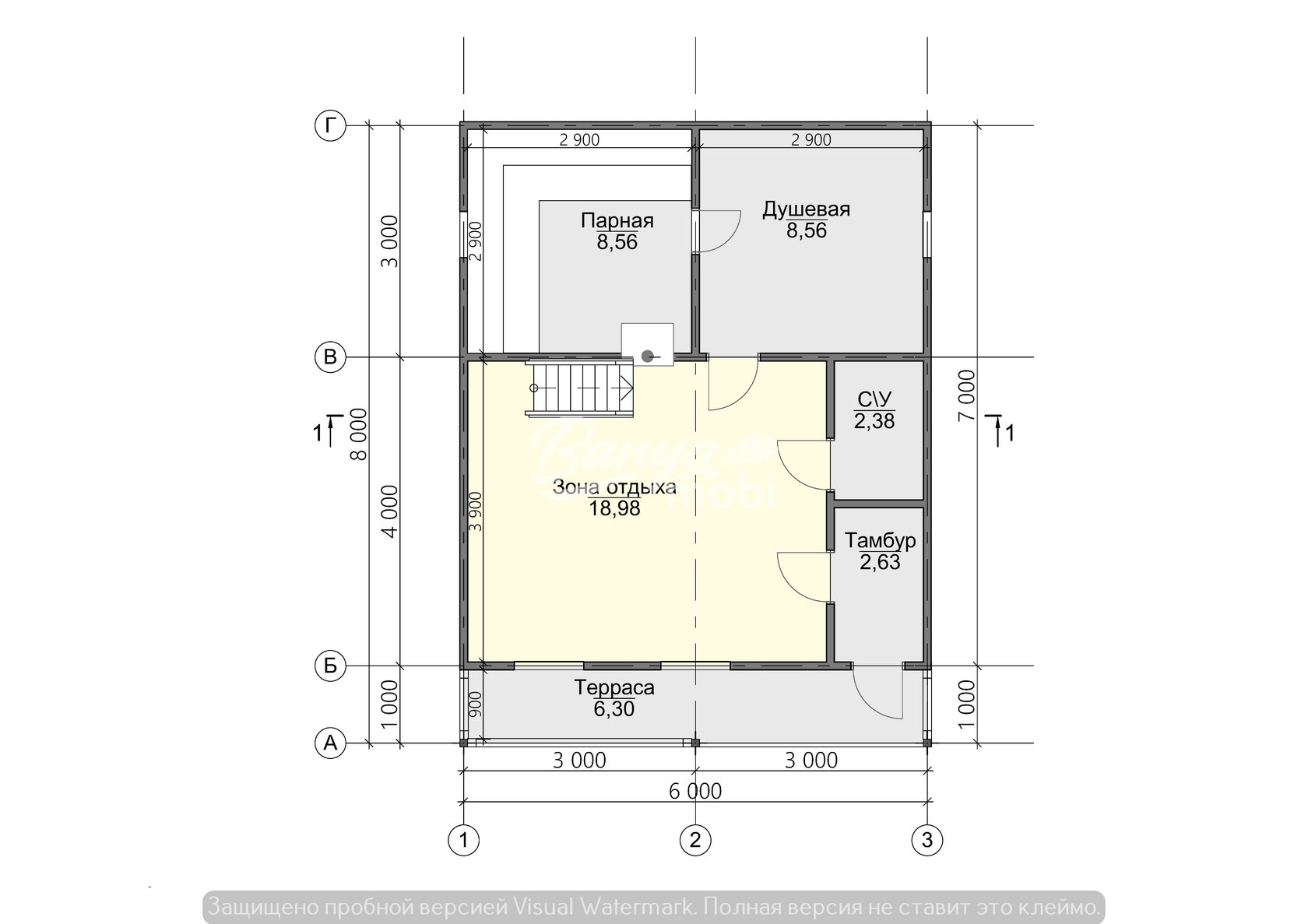 Проект бани 6х4 с мансардой – отличный вариант