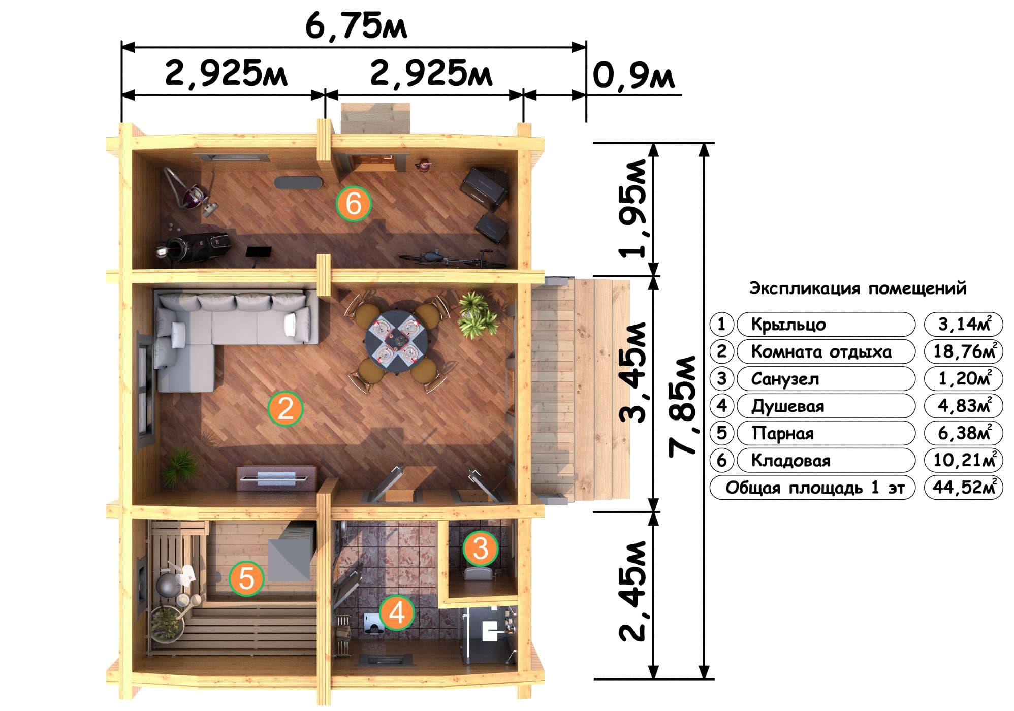 План бани 4х5 мойка и парилка отдельно - описание, варианты!