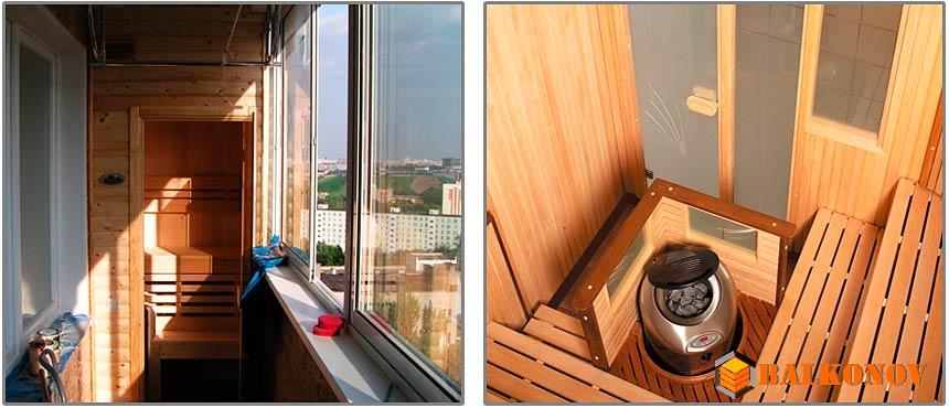 Сауна на балконе (лоджии) своими руками - инструкция и фото на стройпомощник