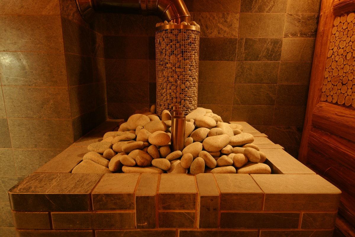 Укладка камней в закрытую каменку