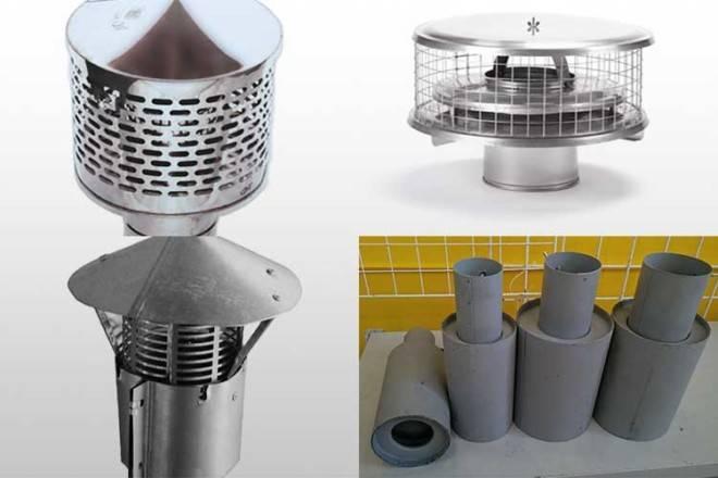 Искрогасители на дымовые трубы: установка, устройство, принцип работы