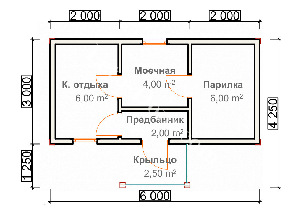 Баня размером 3 на 6 — планировка (52 фото) оформление конструкции площадью 6 на 3 внутри, постройка