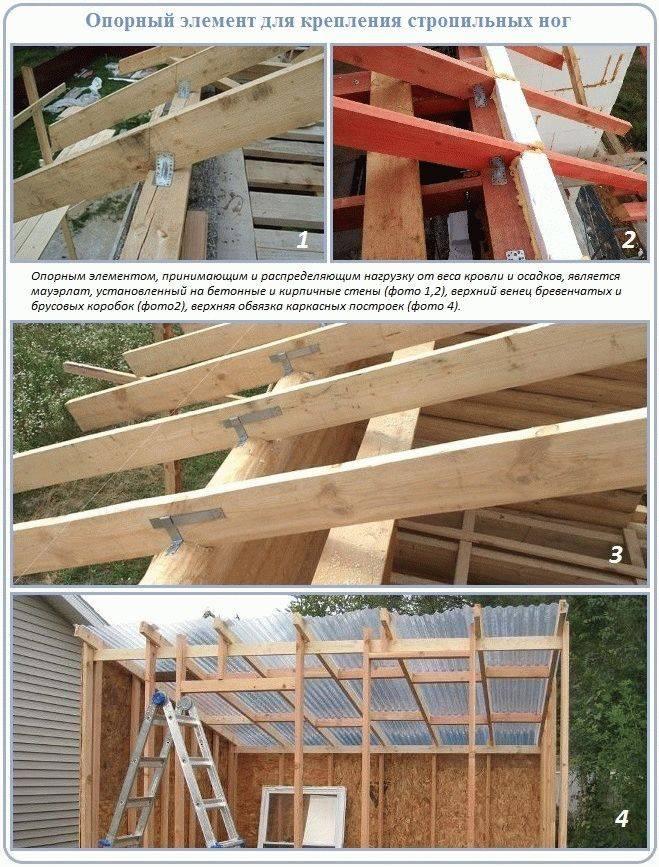 Как построить односкатную крышу своими руками