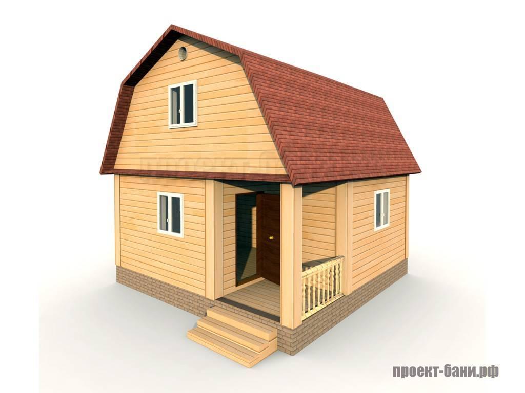 Планировка бани 6х6 с мансардой, открытой или закрытой террасой, балконом, крыльцом - 24 фото