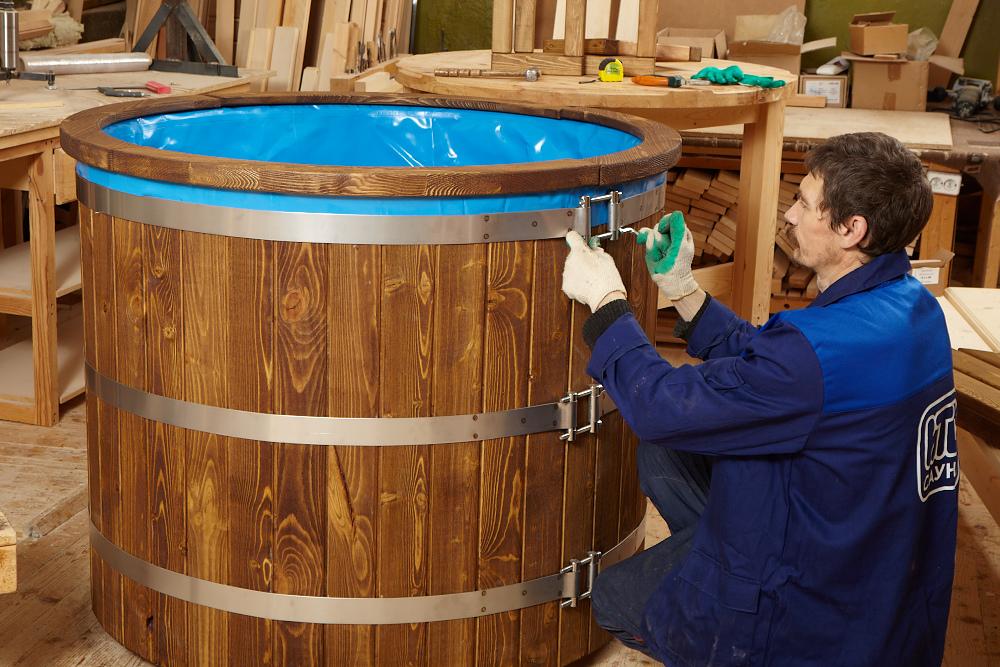 Как сделать своими руками купель для бани из дерева