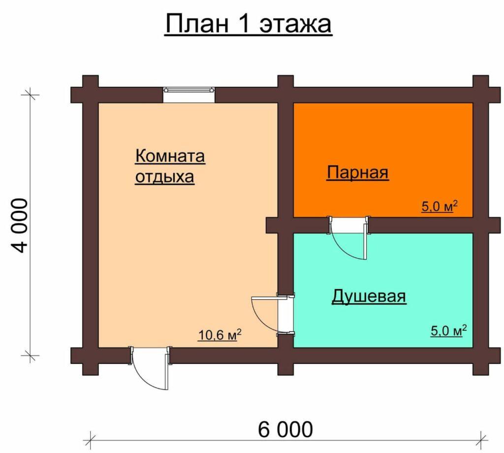 Проект бани площадью 4х6 (96 фото): схема каркасной конструкции с верандой и террасой метражом 4 на 6, сколько кубов леса надо на размер 6х4