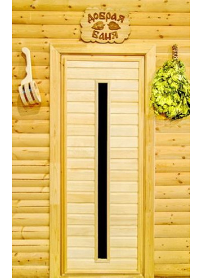 Материал: двери для бани из липы, пластиковые, металлические